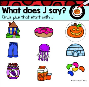 Alphabet -- Letter J SMARTboard Activities (Smart Board)