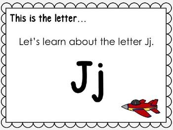 Alphabet Letter Jj Interactive Power Point. Kindergarten