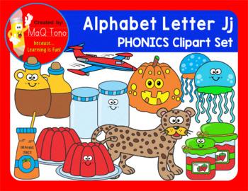 Alphabet Letter Jj Phonics Clipart Set