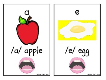 Alphabet Letter Keyword Speech Sound Flash Cards l ABC
