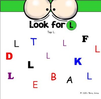 Alphabet -- Letter L SMARTboard Activities (Smart Board)