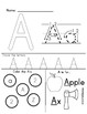 Alphabet Letter Learning Sheets A-D FREEBIE