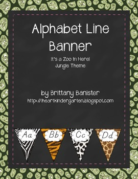 Alphabet Letter Line Jungle Zoo Theme D'Nealian