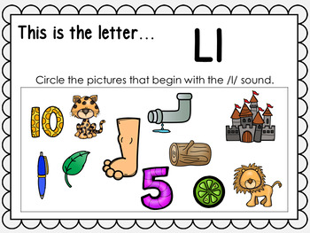 Alphabet Letter Ll Interactive Power Point. Kindergarten