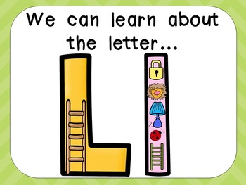 Alphabet Letter Ll PowerPoint Presentation- Letter ID, Sounds, and Handwriting