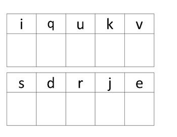Alphabet Letter Lowercse Sort & Match