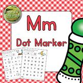 Alphabet Letter M Dot Marker Center