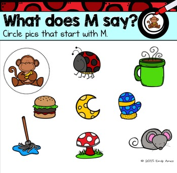 Alphabet -- Letter M SMARTboard Activities (Smart Board)