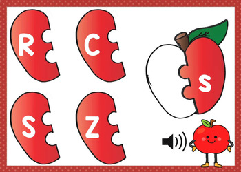 Alphabet Letter Match Apple Puzzles Boom Cards (uppercase & lowercase letters)