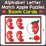 Alphabet Letter Match Apple Puzzles Boom Cards (uppercase
