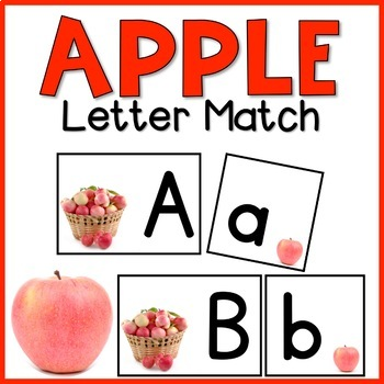 Fuji Apple Letter Match | Print & D'Nealian