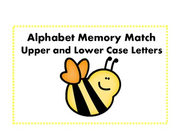 Alphabet Letter Match - Bee Theme