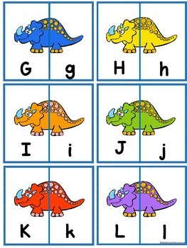 Alphabet Letter Match - Dinosaur Theme