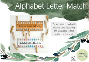 Alphabet Letter Match Up