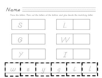 Alphabet Letter Match in D'Nealian
