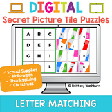Alphabet Letter Matching Digital Secret Picture Tile Puzzles