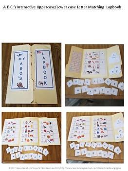 Alphabet Lapbook Literacy Centers