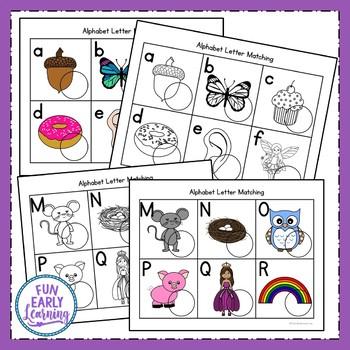 Alphabet Letter Matching - Literacy Center Activity