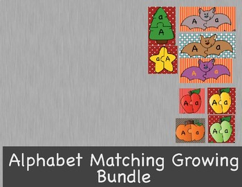 Alphabet Letter Matching Puzzle Games or Center Growing Bundle