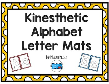 Kinesthetic Alphabet Letter Mats