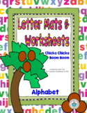 Alphabet Letter Mats and Worksheets (Chicka Chicka Boom Boom)