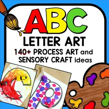 Alphabet Letter Mats with ABC Letter Craft and Process Art Ideas