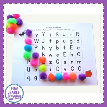 Alphabet Letter Mazes - Color and Black Line {Common Core and RTI}