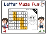 Alphabet Letter Maze with Coloring