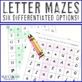 Letter Mazes | Use for Letter Recognition | Alphabet Worksheets - Letter Work