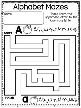 Alphabet Letter Mazes