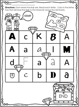 Alphabet Letter Mazes {Letter Recognition Activities}