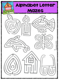 Alphabet Letter Mazes {P4 Clips Trioriginals Digital Clip Art}