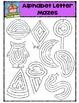 Alphabet Letter Mazes {P4 Clips Trioriginals Digital Clip Art}