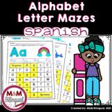 SPANISH Alphabet Activities - Letter Mazes   Abecedario