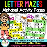 Alphabet Letter Mazes - Upper & Lowercase Letters *NO PREP*