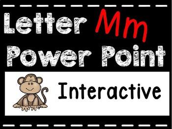 Alphabet Letter Mm Interactive Power Point. Kindergarten