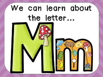 Alphabet Letter Mm PowerPoint Presentation- Letter ID, Sou