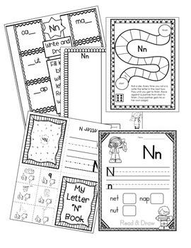Alphabet Letter N! (10 Letter Recognition/Sound Activites) for the Letter N.