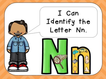 Alphabet Letter Nn PowerPoint Presentation- Letter ID, Sounds, and Handwriting