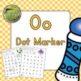 Alphabet Letter O Dot Marker Center