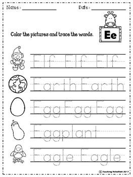 Alphabet Letter Of The Week (E)