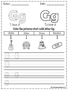 Alphabet Letter Of The Week (G)