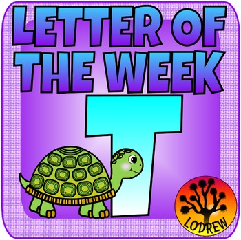 Alphabet Letter Of The Week Letter T, Literacy Centers, Math