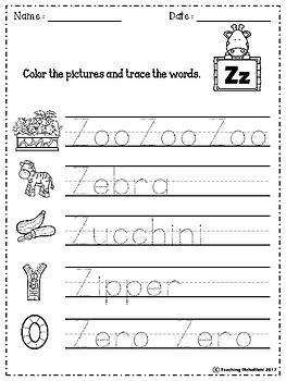 Alphabet Letter Of The Week (Z)