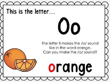 Alphabet Letter Oo Interactive Power Point. Kindergarten