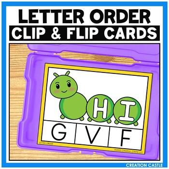 Alphabet Letter Order Clip Cards Center