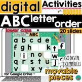 Alphabet Letter Order {lowercase} Google Classroom Activit