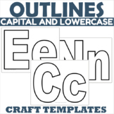 Alphabet Outlines with Capital and Lowercase Letters