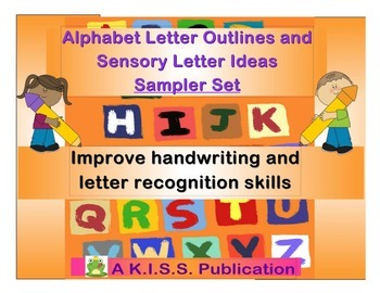 Alphabet Letter Outlines for Handwriting and Sensory Activities