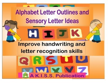 Alphabet Letter Outlines for Handwriting and Sensory Activities Full Set